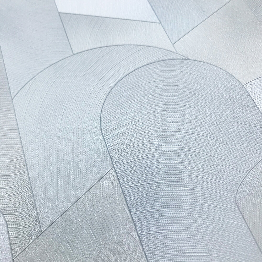 3D Geometric Graphic Wallpaper - Light Grey/ Silver - by Galerie