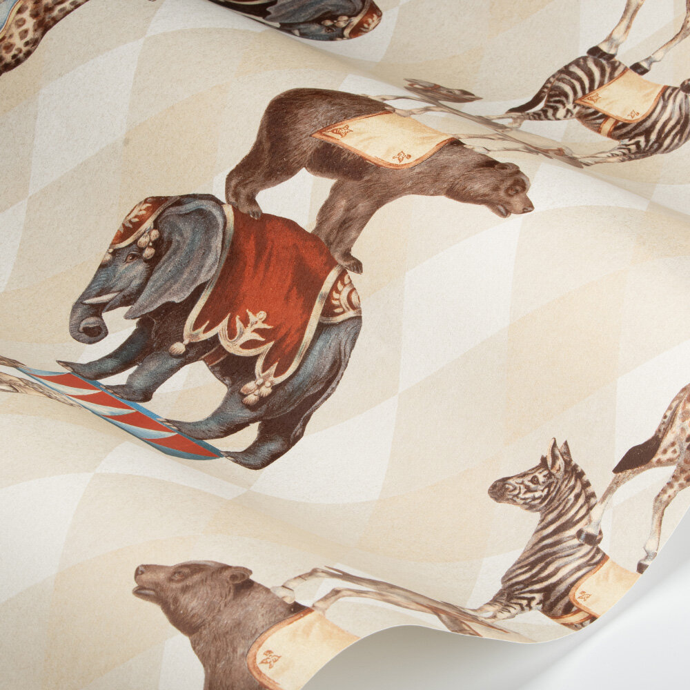 Barnum Wallpaper - Light Gold - by SketchTwenty 3