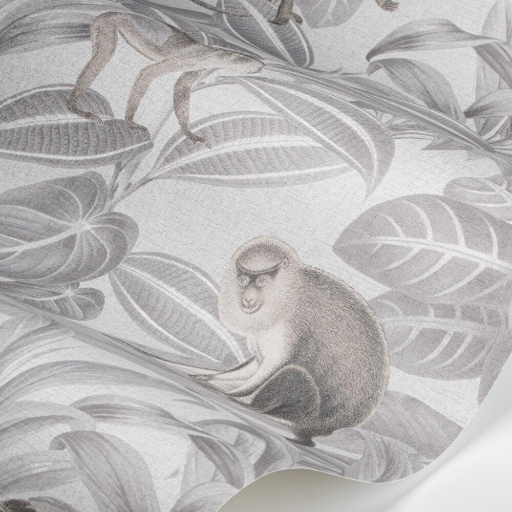 Indian Monkey Wallpaper - Dusk Grey - by SketchTwenty 3