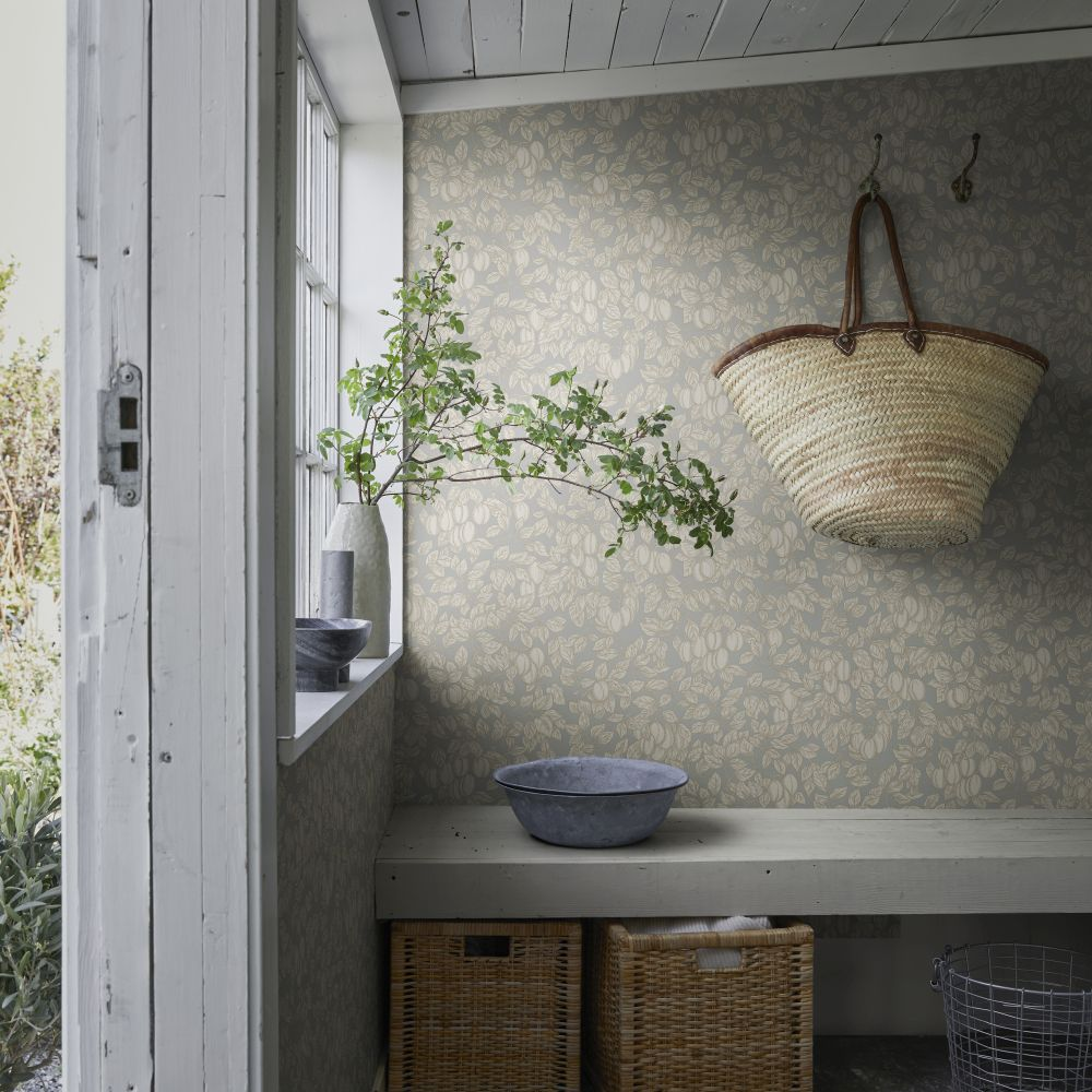 Emrik Wallpaper - Misty Blue - by Sandberg