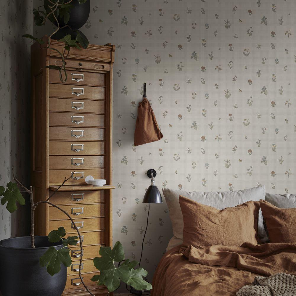 Maja Wallpaper - Clay - by Sandberg