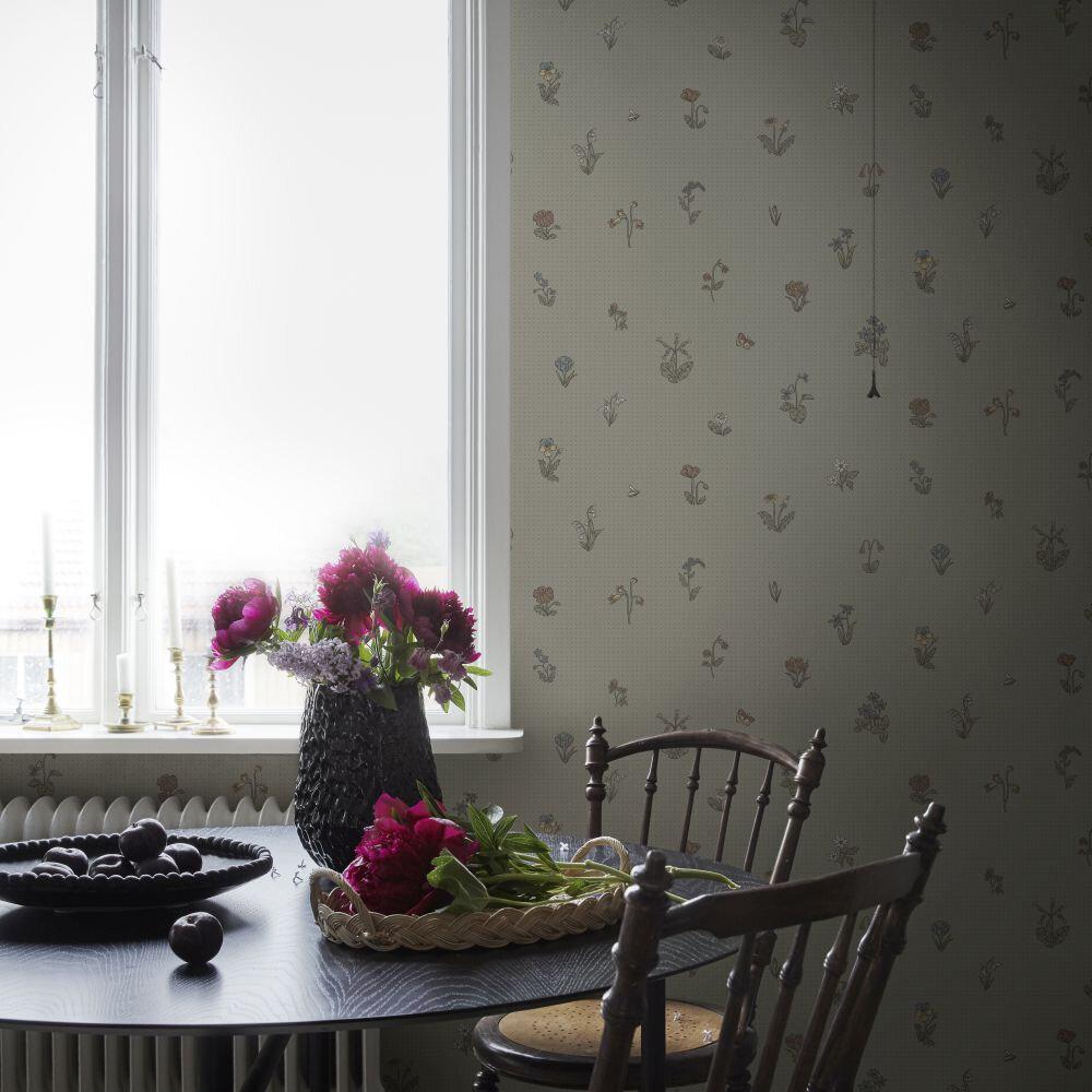 Maja Wallpaper - Sage Green - by Sandberg