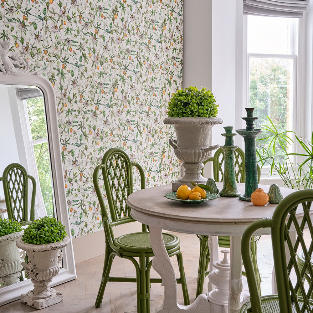 Passiflora Wallpaper - Chalk - by Isabelle Boxall