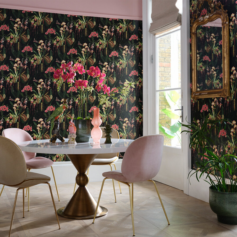 Orchid Jungle Wallpaper - Moss - by Isabelle Boxall