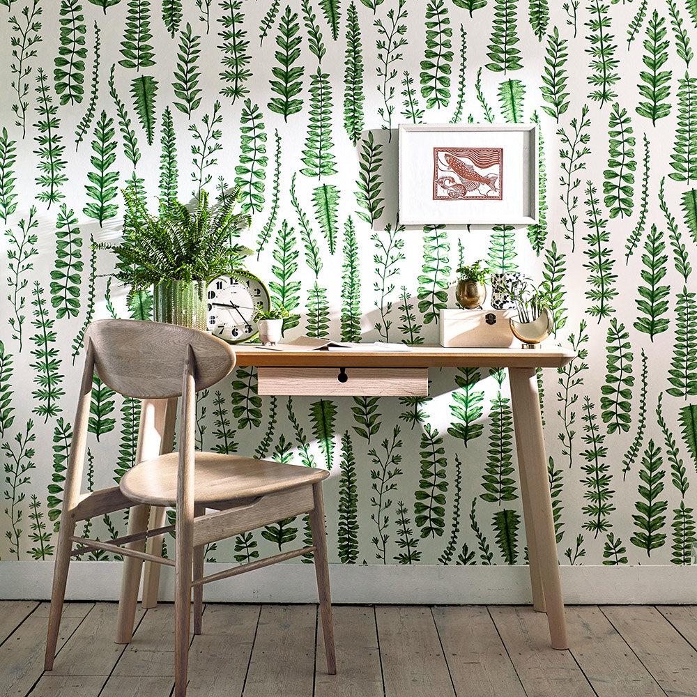 Ferns Wallpaper - Juniper - by Scion