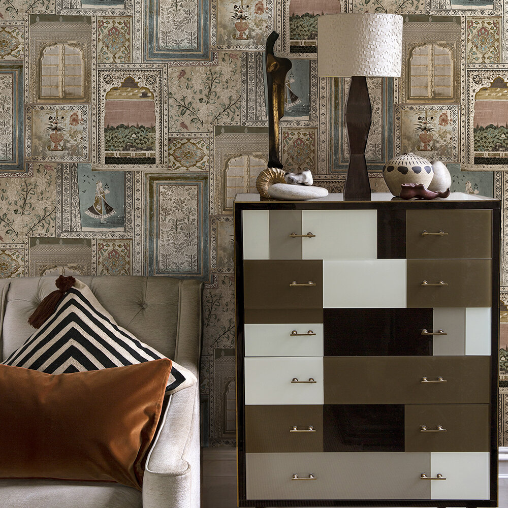 Summer palace Wallpaper - Multi/neutral - by Sidney Paul & Co