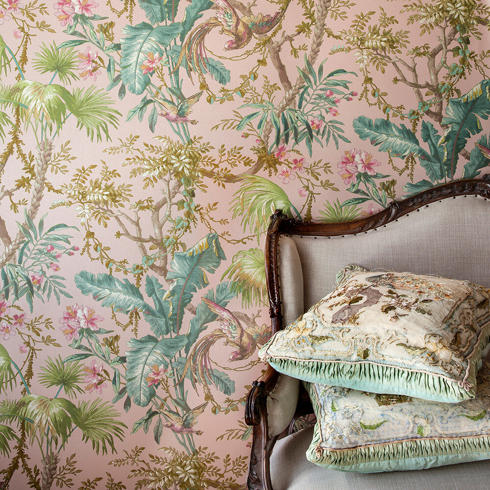 The Lost Gardens Wallpaper - Blush - by Sidney Paul & Co