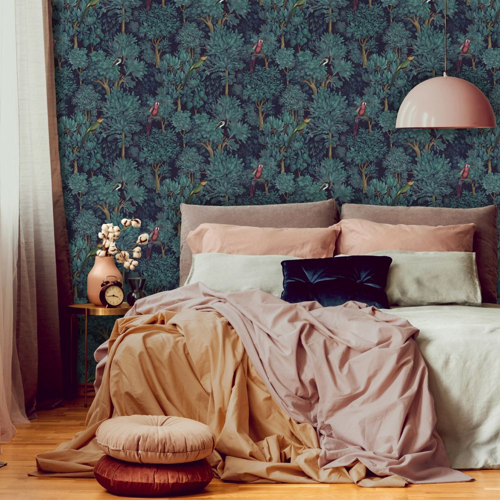 Botanist Wallpaper - Teal - by Albany