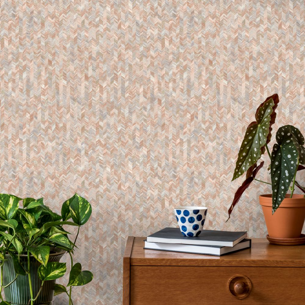 Saram Texture Wallpaper - Orange - by Albany