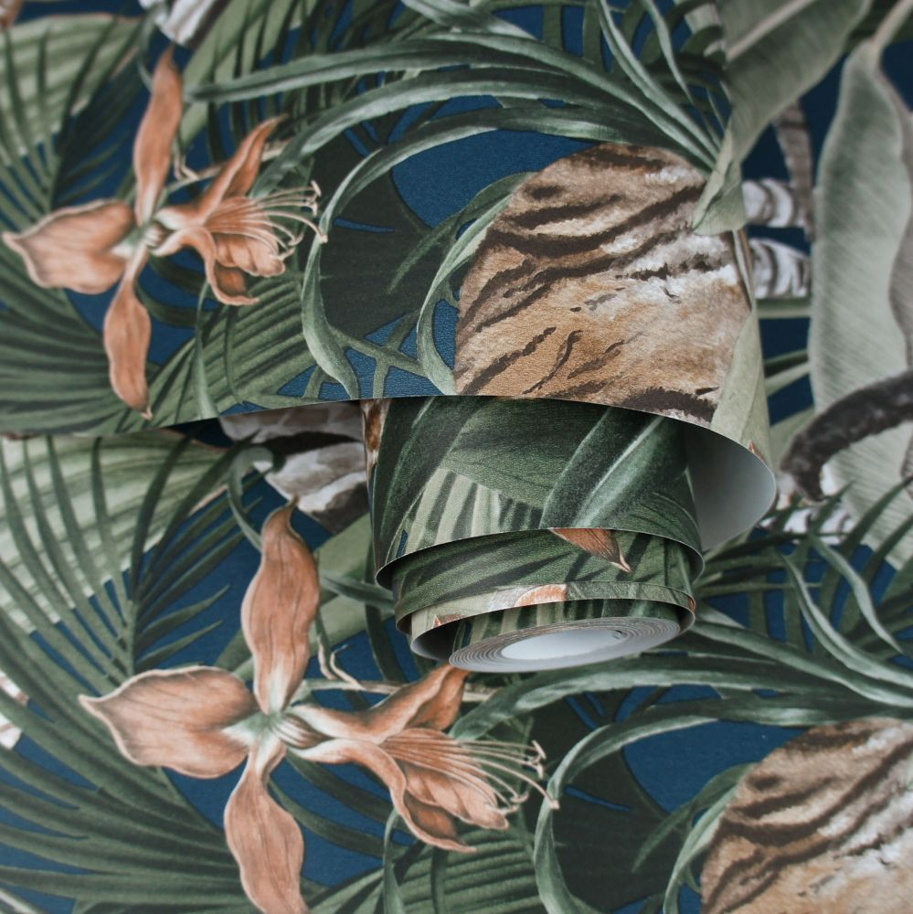 Serengeti Wallpaper - Navy - by Albany