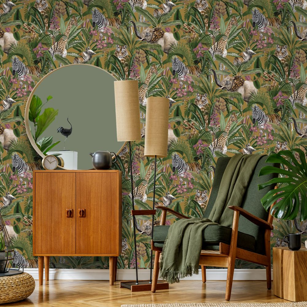 Serengeti Wallpaper - Ochre - by Albany