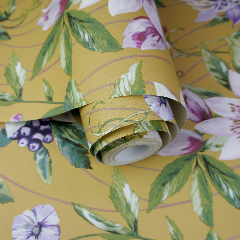 Passiflora Wallpaper - Ochre - by Albany