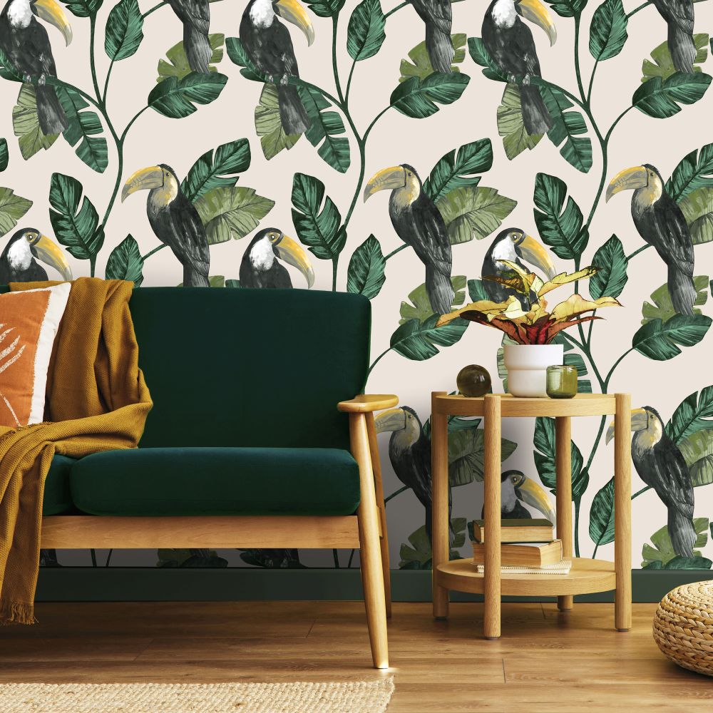 Tiki Wallpaper - Neutral - by Albany