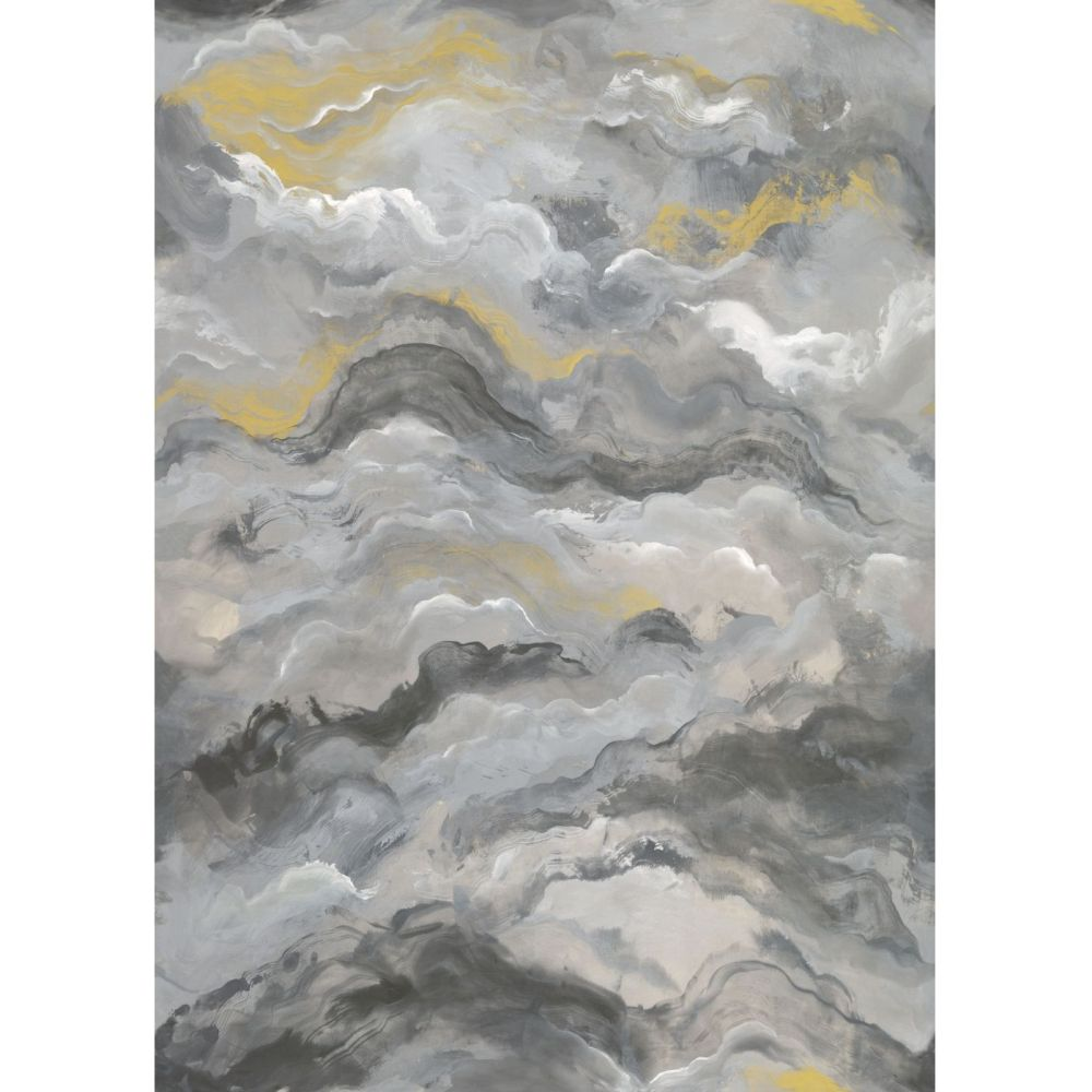 Sierra Mural - Charcoal / Gold - by Albany