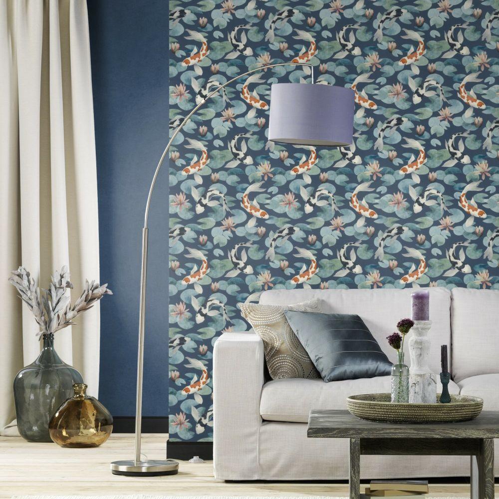 Koy Wallpaper - Blue - by Albany