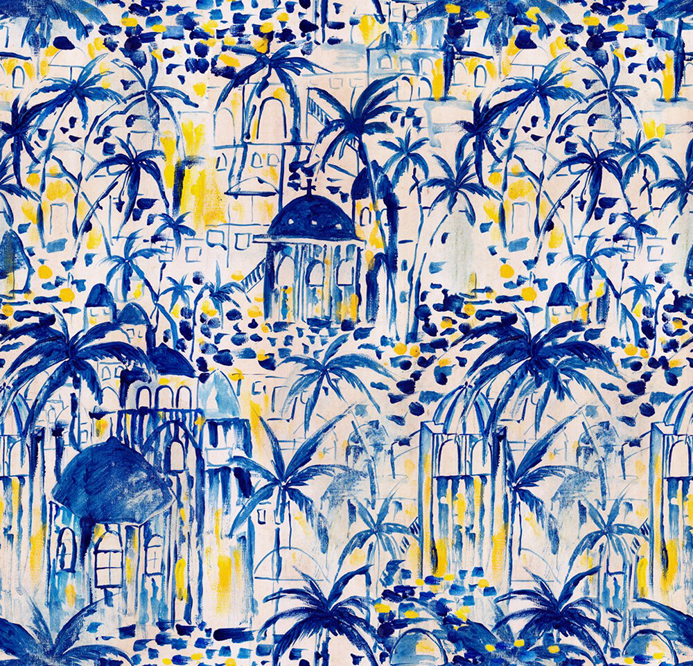 Rhodes Mural - Blue and Yellow - by Mind the Gap