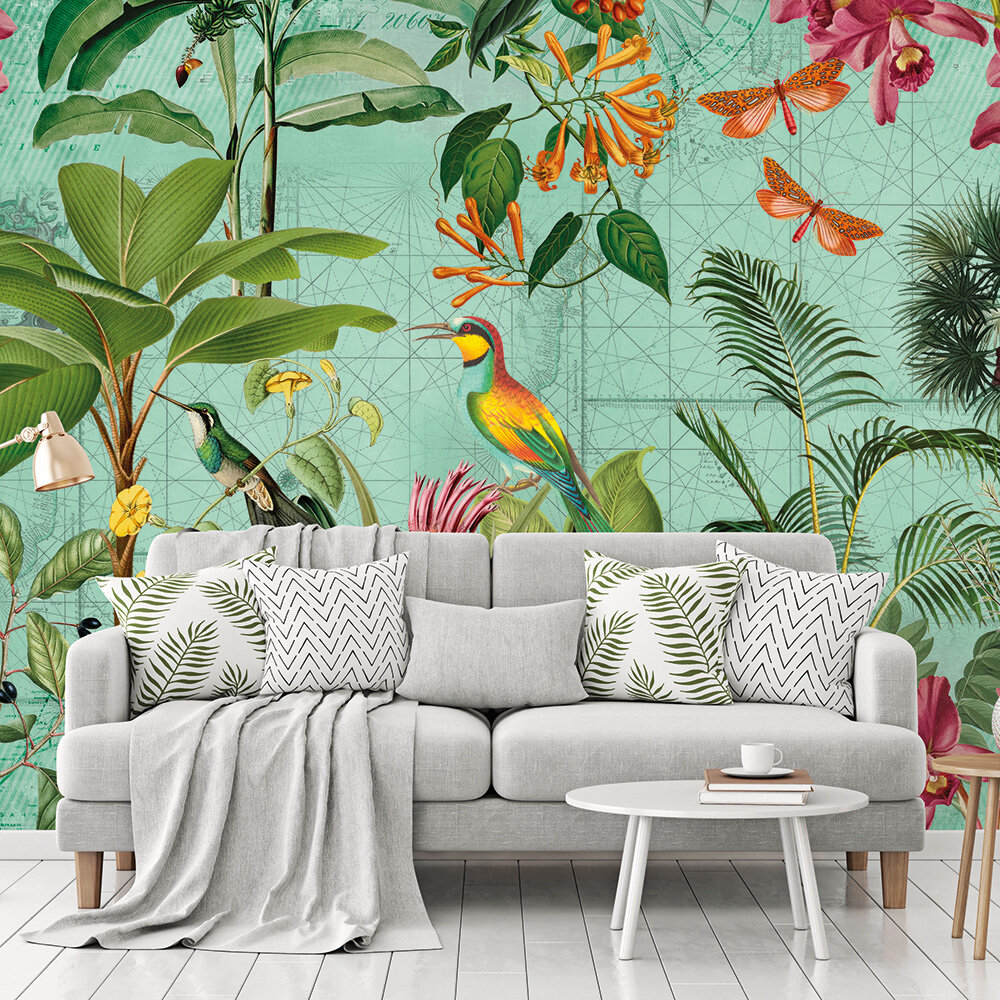 Tropical Paradise Mural - Multi - by ARTist