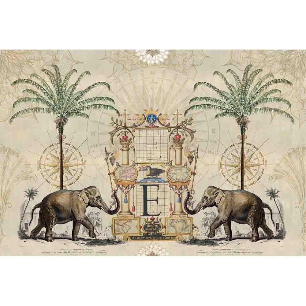 Nostalgic Elefant Mural - Multi - by ARTist