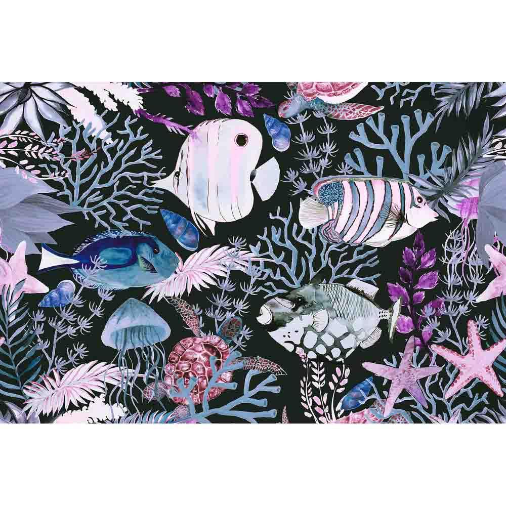 Underwater Mural - Purple - by ARTist