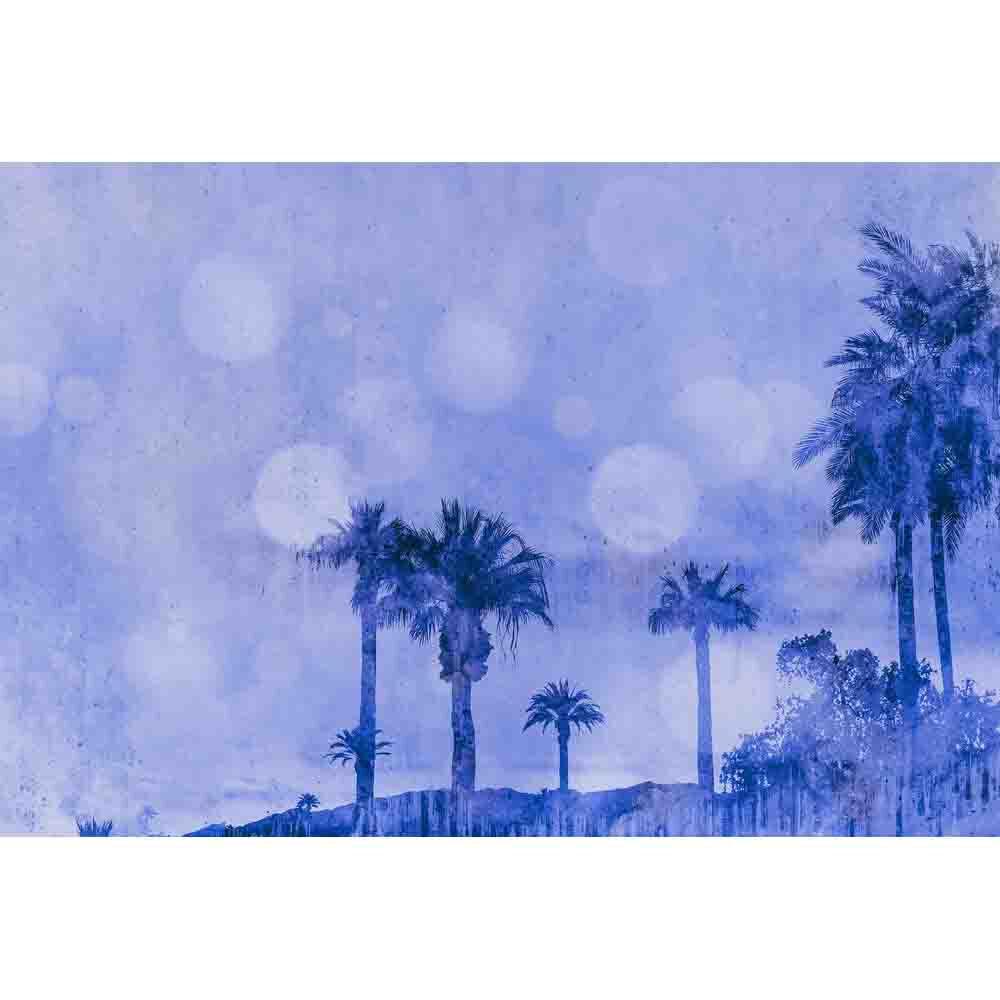 Palm Oasis Mural - Purple - by ARTist