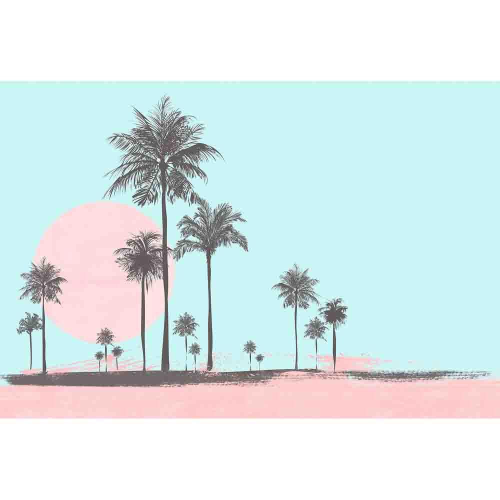 Miami Beach Sun Mural - Blue - by ARTist