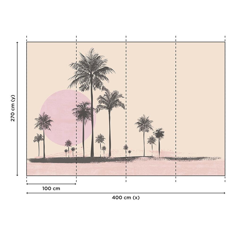 Miami Beach Sun Mural - Peach - by ARTist