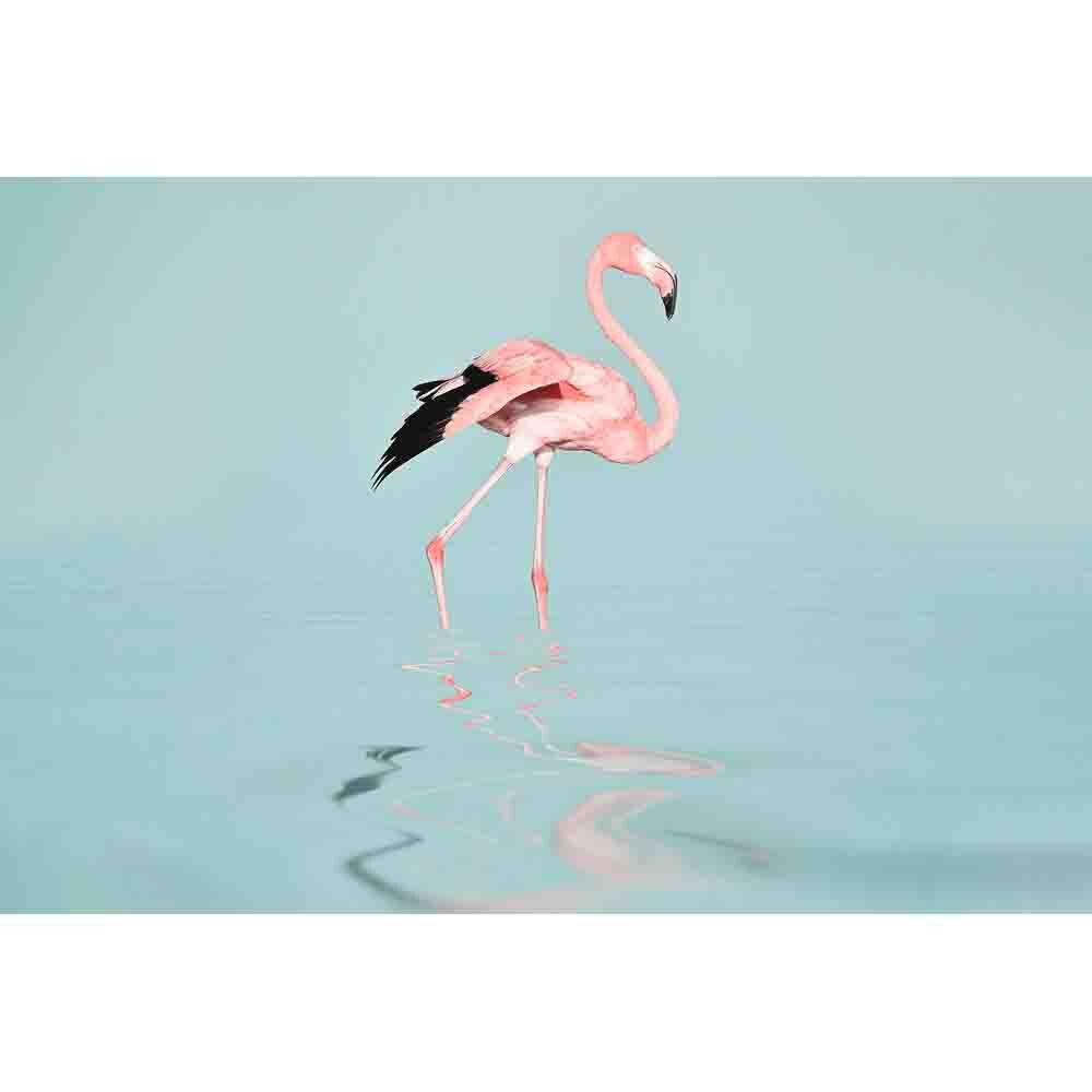 Flamingo Water Mural - Blue - by ARTist