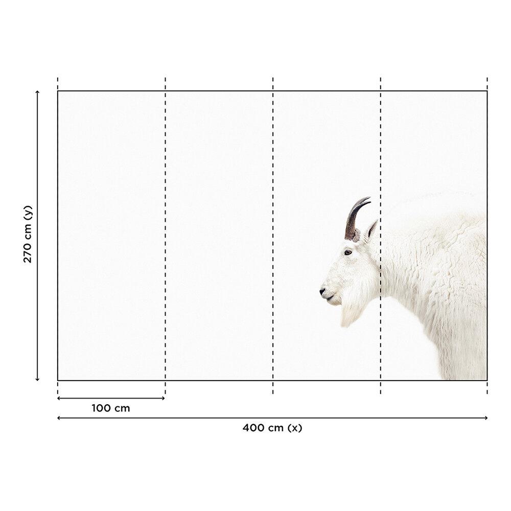 Mountain Goat Mural - White - by ARTist
