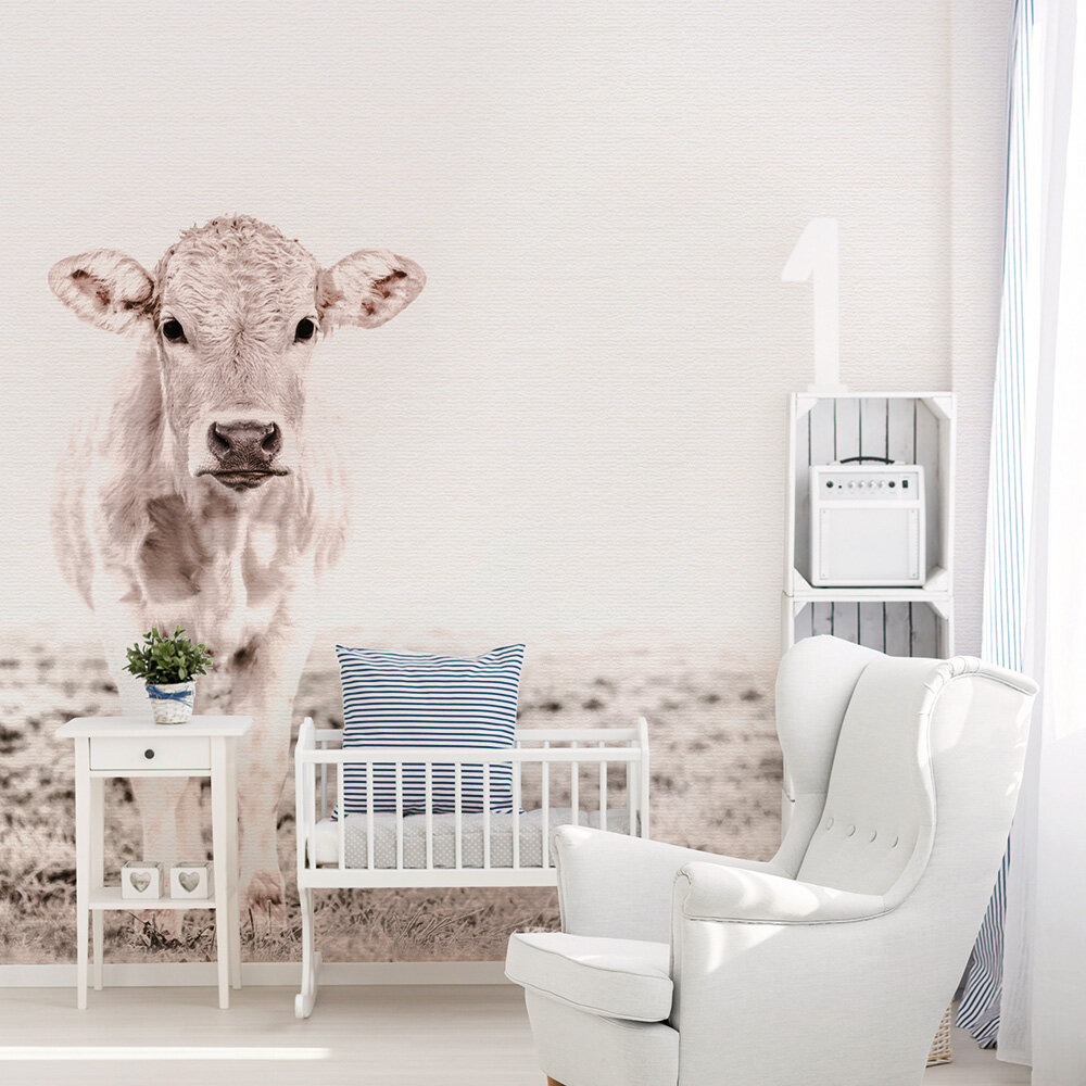 Highland Cattle 3 Mural - Brown - by ARTist