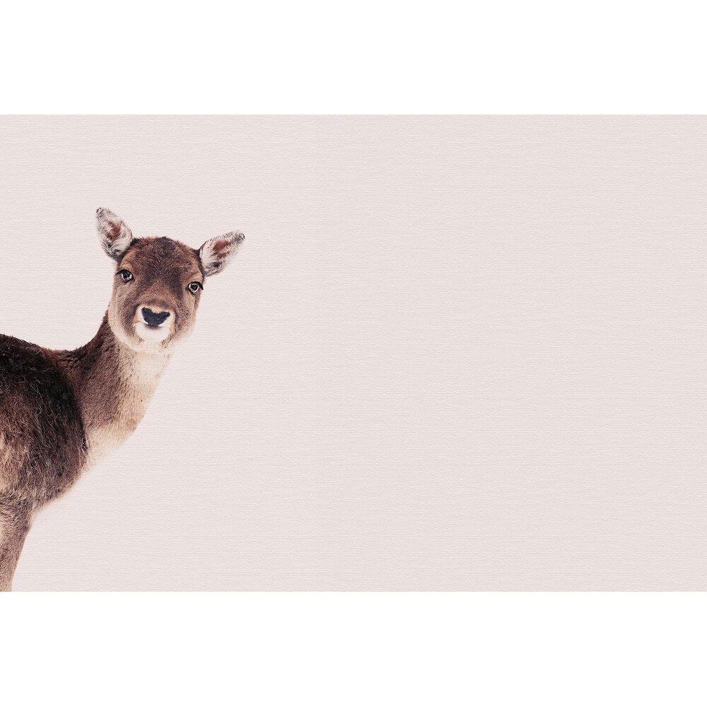 Deer Rose Mural - Brown - by ARTist