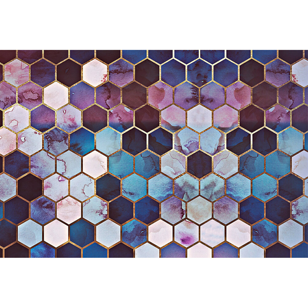 Rugged Marble Mural - Pink/Blue - by ARTist