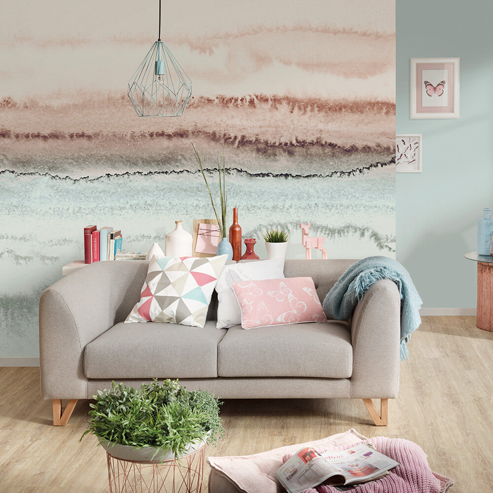 Within the Tide Mural - Soft pink - by ARTist