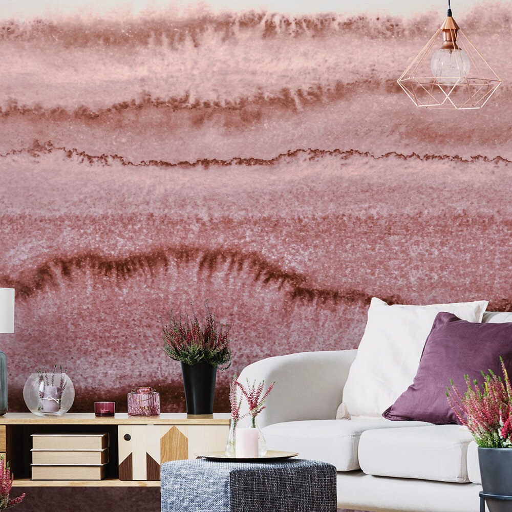 Within the Tide Mural - Blush Pink - by ARTist