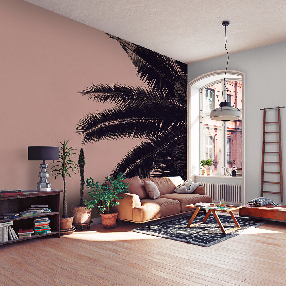 Palm Tree Mural - Pink - by ARTist
