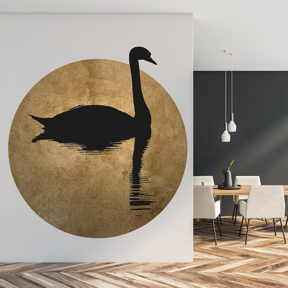 The Swan 2 Mural - Gold/Black - by ARTist