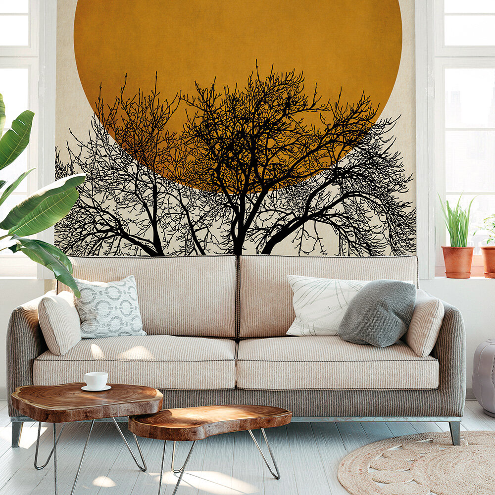 Wintermorgen Mural - Gold - by ARTist