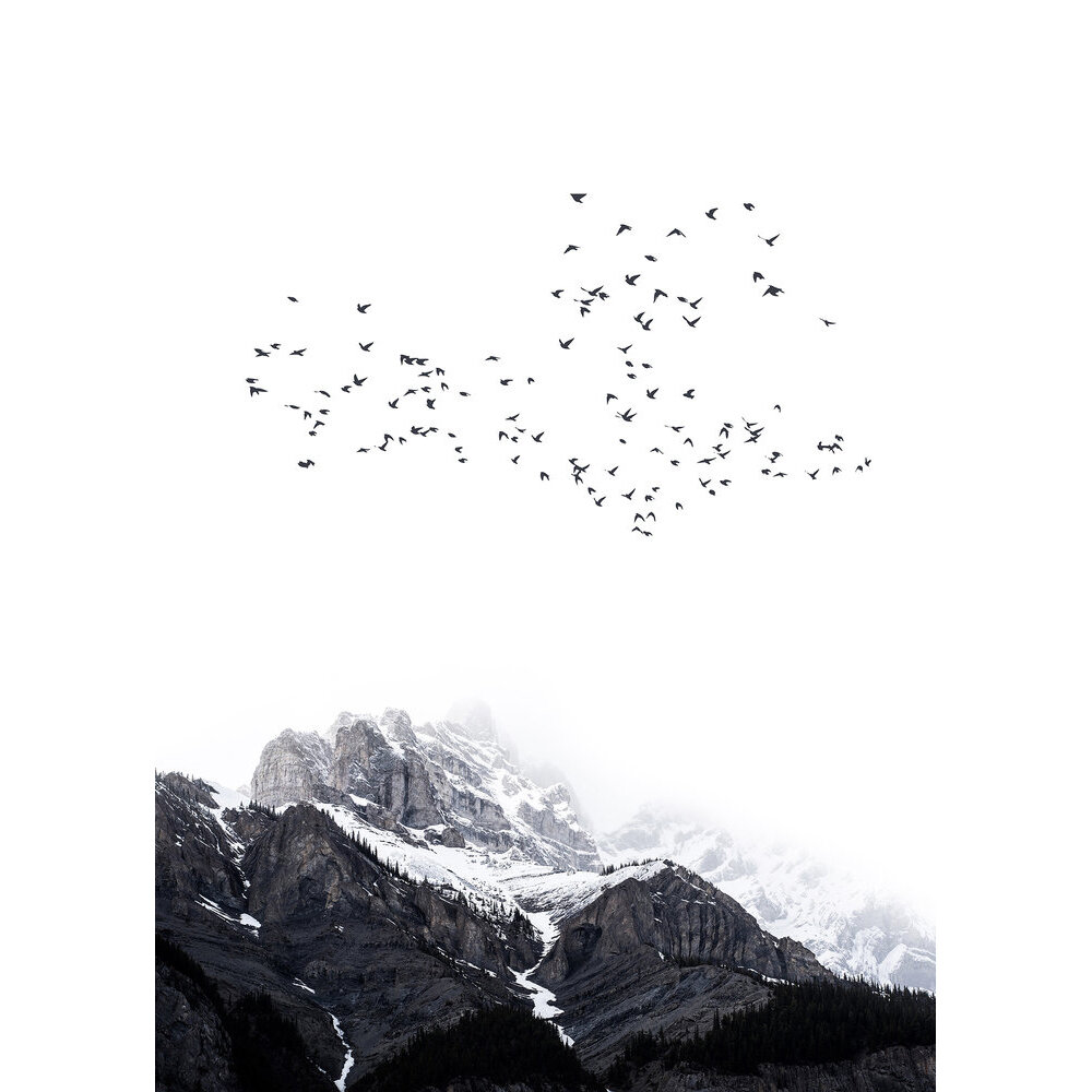 The Mountains Mural - Black - by ARTist