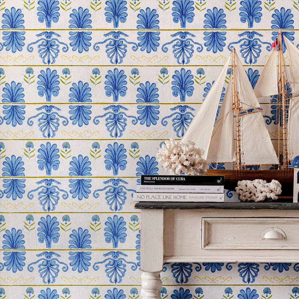 Mykonos Villa Wallpaper - White Sand - by Mind the Gap