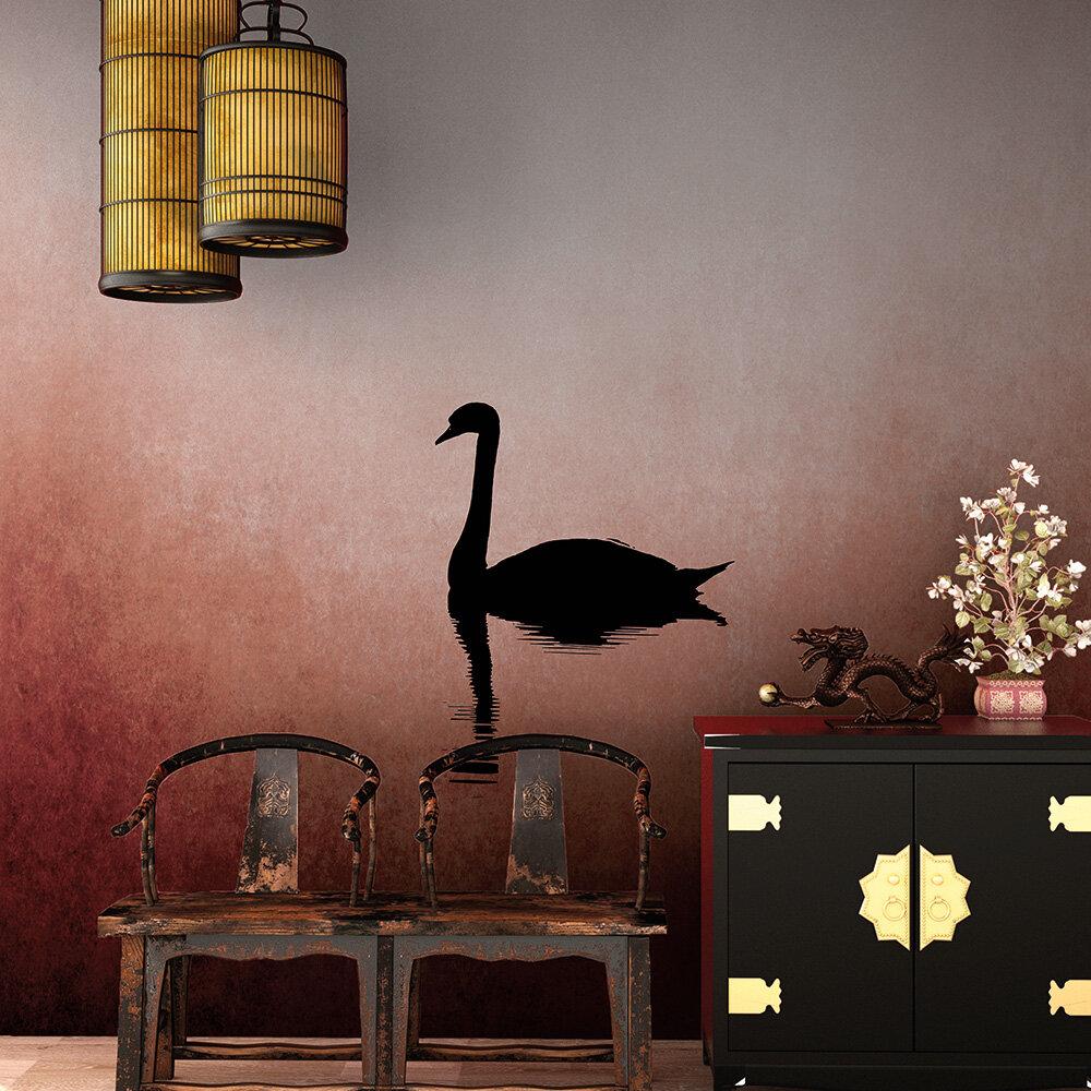 Swan Lake Mural - Red - by ARTist
