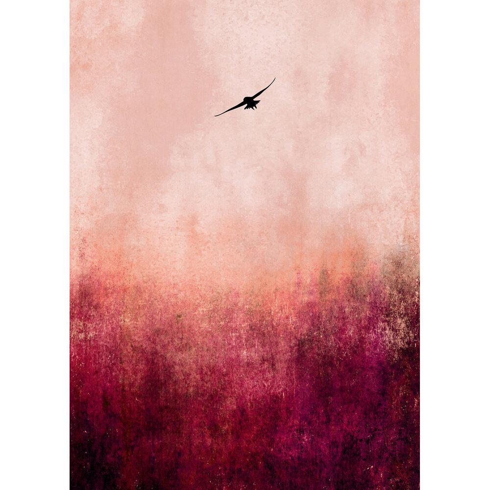 Warm Sunset Mural - Pink - by ARTist