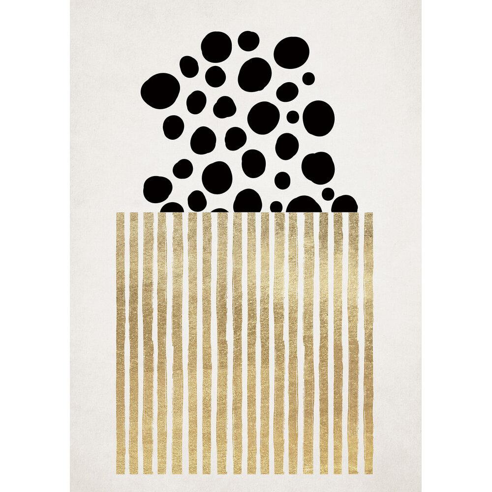 Golden Popcorn Mural - Black/Gold - by ARTist