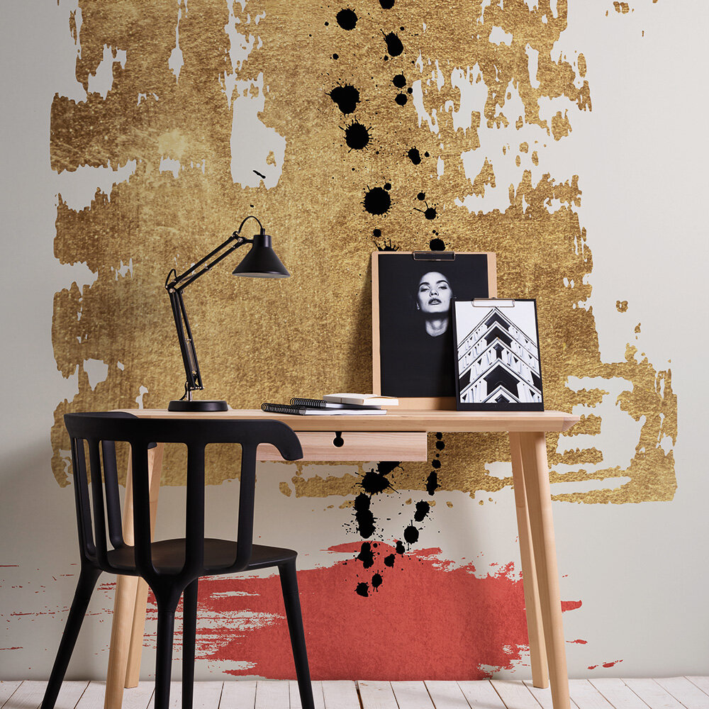 Drip Drop Mural - Gold - by ARTist
