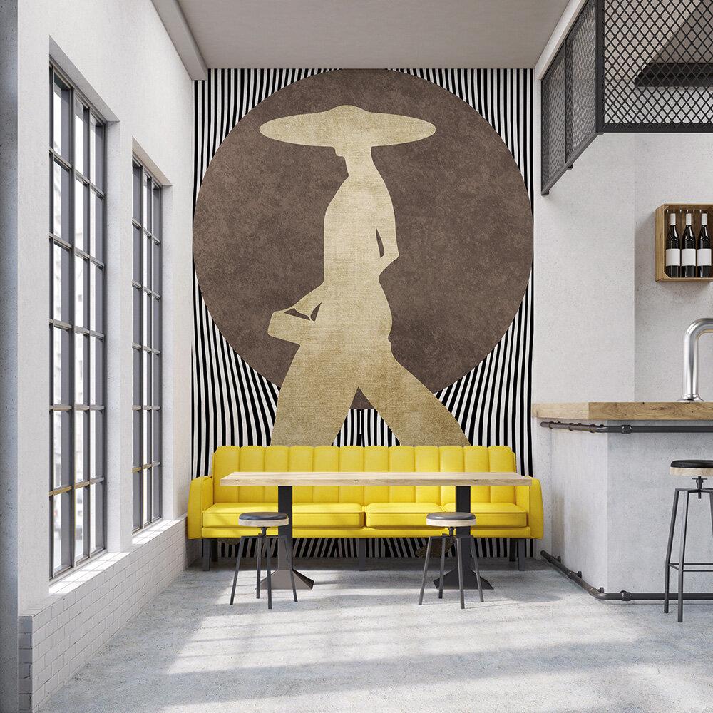 La Madame Noir Mural - Bronze - by ARTist