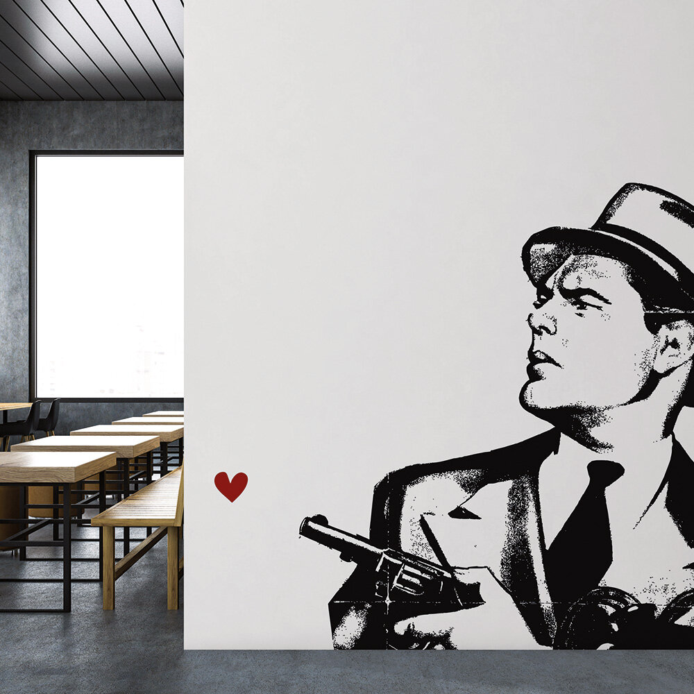 Don't you dare!  Mural - Black/White - by ARTist