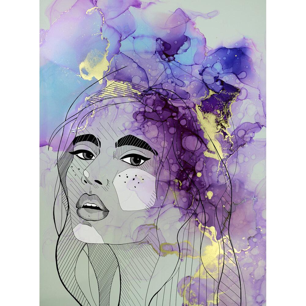 Lady Mural - Purple - by ARTist