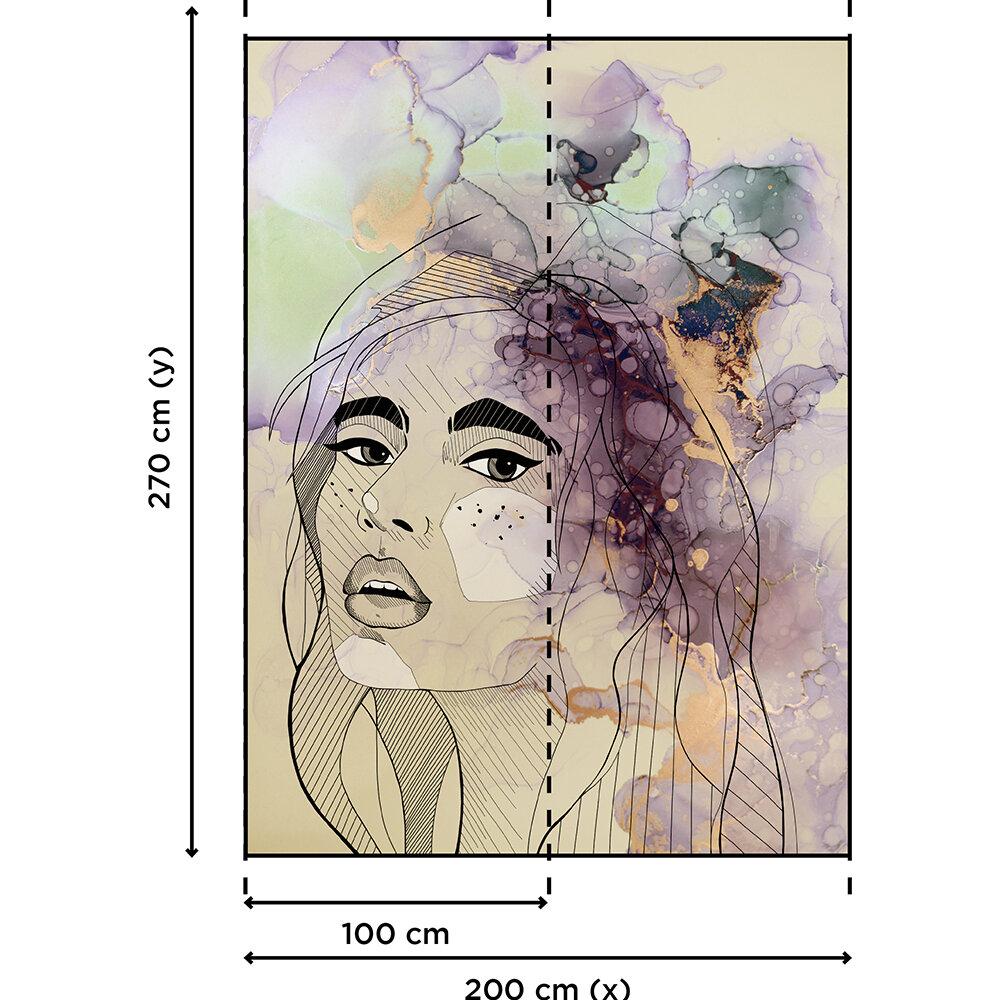 Lady Mural - Peach - by ARTist