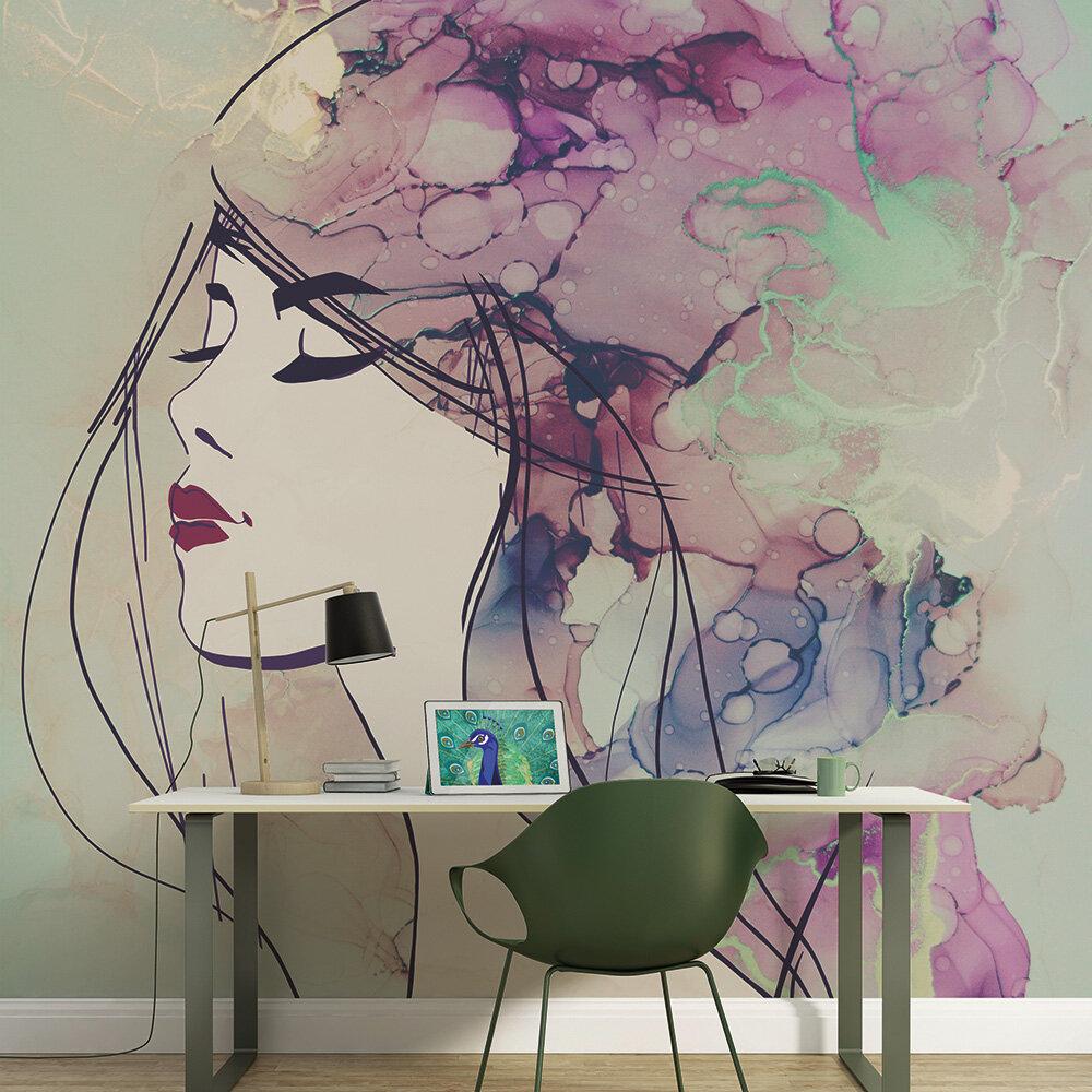 Lady 2 Mural - Multi - by ARTist