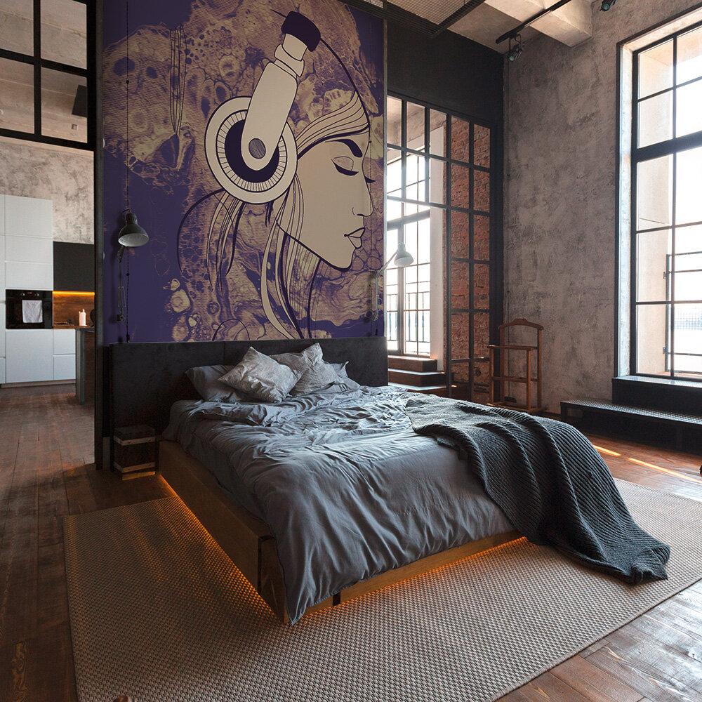Acryl Lady Mural - Purple - by ARTist