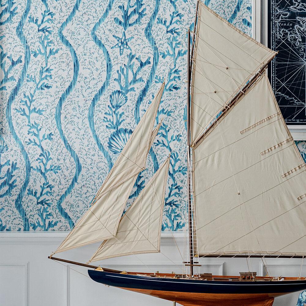 Koralion Wallpaper - Aquamarine - by Mind the Gap