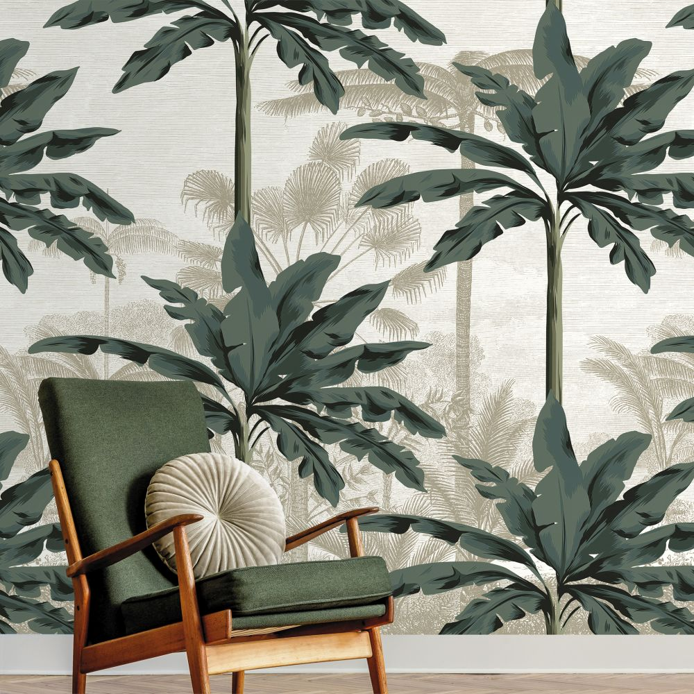Tropics Mural - Green - by Ted Baker